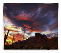 Fleece Blanket featuring the photograph Guardians Of The Mountain by Rick Furmanek