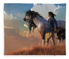 Guardians Of The Plains Fleece Blanket