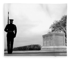 Guarding The Unknown Soldier Fleece Blanket