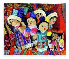 Guatemalan Dolls Fleece Blanket