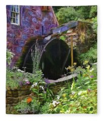 Guernsey Moulin Or Waterwheel Fleece Blanket