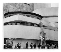 Guggenheim Museum Nyc Bw Fleece Blanket