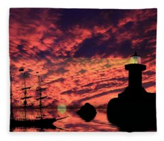 Guiding The Way Fleece Blanket