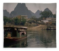 Guilin Limestone Peaks Fleece Blanket