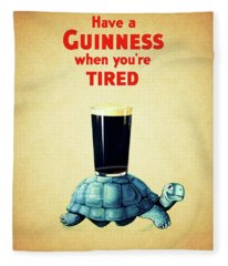 Guinness When You're Tired Fleece Blanket
