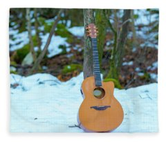 Fleece Blanket featuring the photograph Guitar by Mats Silvan