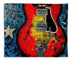 Guitar Star Es335 Fleece Blanket