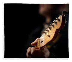 Guitarist Close-up Fleece Blanket