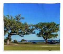 Gulf Coast Lighthouse Seascape Biloxi Ms 3663b Fleece Blanket