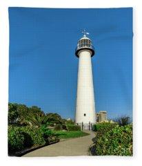 Gulf Coast Lighthouse Seascape Biloxi Ms 3773a Fleece Blanket