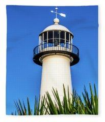 Gulf Coast Lighthouse Seascape Biloxi Ms 3819a Fleece Blanket