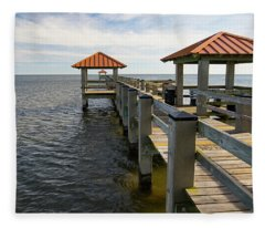 Gulf Coast Pier Fleece Blanket