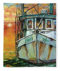 Gulf Coast Shrimper Fleece Blanket