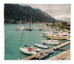 Gulf Of Kotor Fleece Blanket