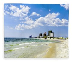 Gulf Shores Al Beach Seascape 1746a Fleece Blanket