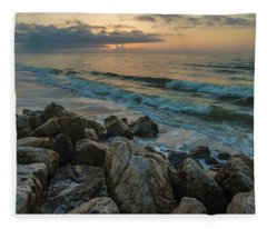 Gulf Shores Morning Waves  Fleece Blanket