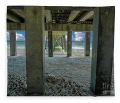 Gulf Shores Park And Pier Al 1649 Fleece Blanket