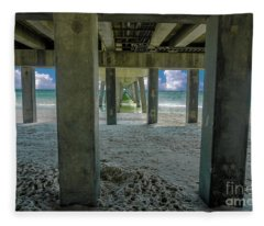 Gulf Shores Park And Pier Al 1649 Fleece Blanket