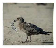 Gull And Feather Fleece Blanket