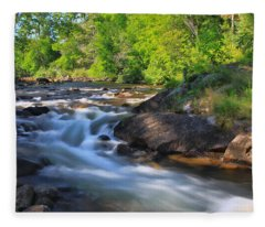 Gull River Falls - Gunflint Trail Minnesota Fleece Blanket