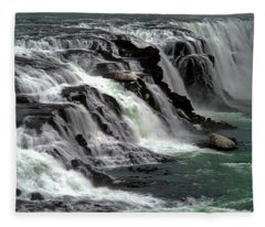 Gullfoss Waterfalls, Iceland Fleece Blanket