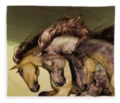 Gunmetal Fleece Blanket