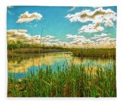 Gunnel Oval By Paint Fleece Blanket