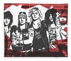 Guns N Roses Graffiti Tribute Fleece Blanket