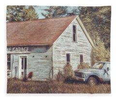 Gus Klenke Garage Fleece Blanket