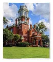 Gwinnett County Historic Courthouse Fleece Blanket