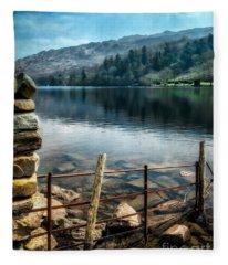 Gwynant Lake Fleece Blanket