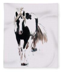Gypsy Vanner Fleece Blanket