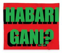 Habari Gani Fleece Blanket