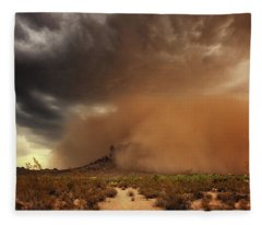 Fleece Blanket featuring the photograph Haboob Is Coming by Rick Furmanek