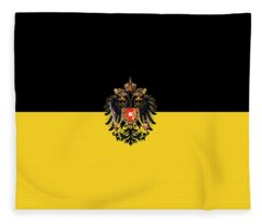 Habsburg Flag With Imperial Coat Of Arms 3 Fleece Blanket