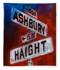 Haight And Ashbury Fleece Blanket