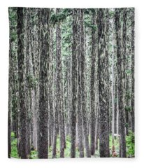 Hairy Forest Fleece Blanket