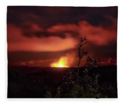 Halemaumau Crater Fleece Blanket
