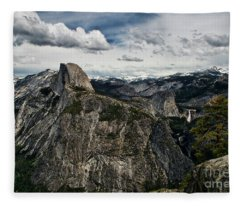 Half Dome At Yosemite Fleece Blanket