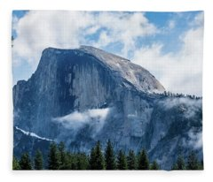 Half Dome In The Clouds Fleece Blanket