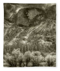 Half Dome Over Mirror Lake Fleece Blanket