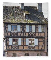 Half Timber House Strasbourg Fleece Blanket