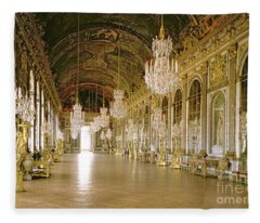 Hall Of Mirrors At The Chateau De Versailles Fleece Blanket