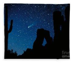 Halley's Comet Fleece Blanket