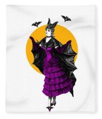 Halloween Batgirl Fleece Blanket