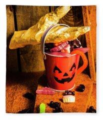 Halloween Candy Still Life Fleece Blanket