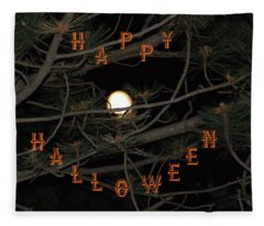 Halloween Card Fleece Blanket
