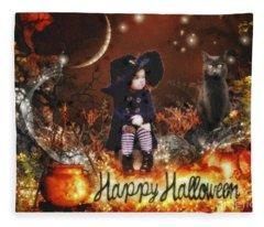 Halloween Girl Fleece Blanket