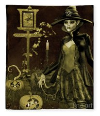 Halloween Graveyard-c Fleece Blanket