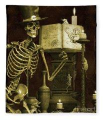 Halloween Graveyard-d Fleece Blanket
